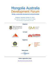 Mongolia Australia Development Forum Program 2014 - Agenda_Page_1