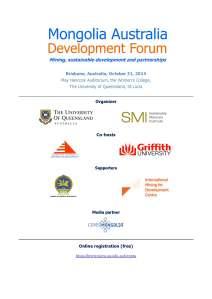 Mongolia Australia Development Forum Program 2014 - Agenda_Page_1